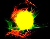 在黑背景的超新星疾风 向量例证