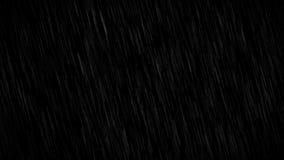 在黑背景的雨 库存例证