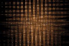 在黑背景,元素设计的摘要几何棕色样式  免版税库存图片
