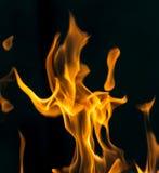 在黑色关闭的火抽象背景 免版税库存图片