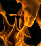 在黑色关闭的火抽象背景 免版税图库摄影