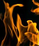 在黑色关闭的火抽象背景 免版税库存照片