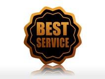 在黑色星形标签的最佳的服务 免版税库存图片