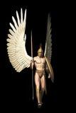 在黑色查出的天使 向量例证