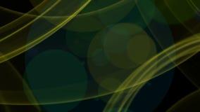 在黑色的五颜六色的改变的颜色彩虹摘要柔滑的波浪移动的背景与圆的bokeh塑造, HD1080p 影视素材
