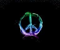在黑色的和平和爱 库存照片