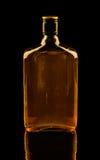 在黑色的威士忌酒 库存照片