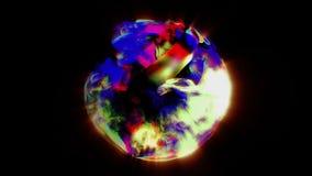 在黑色的杂色的抽象球形 库存例证