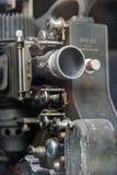 在黑色的老放映机 免版税图库摄影