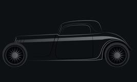 在黑色背景的汽车符号 免版税图库摄影