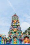 在黑风洞寺庙,吉隆坡马来西亚的五颜六色的雕象 库存图片