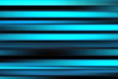 在黑,蓝色和深蓝口气的五颜六色的抽象明亮的线背景,水平的镶边纹理 库存照片