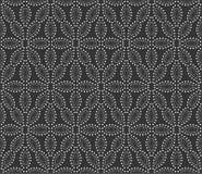 在黑n丝毫的被加点的花纹花样背景例证 皇族释放例证