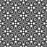 在黑n白色无缝的样式背景例证的窗口设计 皇族释放例证