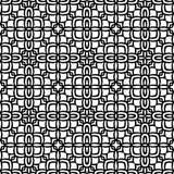 在黑n白色的充分地被填装的道德花纹花样背景 向量例证