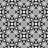 在黑n白色的百合花无缝的样式背景 皇族释放例证