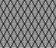 在黑n白色的重复的主题样式背景例证 皇族释放例证