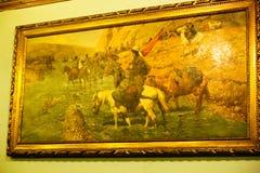 在默罕默德阿里-开罗宫殿的艺术  库存图片