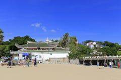 在鼓浪屿上的著名shuzhuanghuayuan庭院 图库摄影