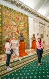 在齐奥塞斯库宫殿里面的法国挂毯 免版税库存照片