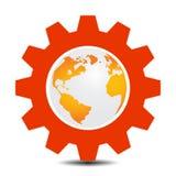 在齿轮的世界 免版税库存照片