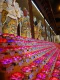 在龙华寺的莲花灯 库存图片
