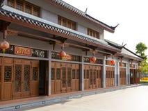 在龙村庄的建筑学中国式 库存照片