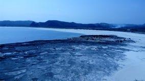 在龙目岛的Selong Belanak海滩 免版税图库摄影