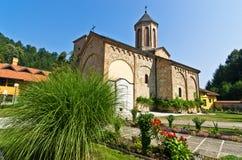 在13。世纪建立的Rača修道院看法 库存图片