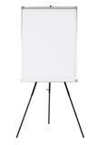 在黑三脚架的空的whiteboard 库存照片