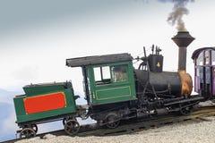在登上华盛顿的嵌齿轮火车 库存图片