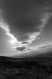 在登上华盛顿,新罕布什尔的滚动的双突透镜的云彩 库存照片