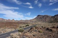 在登上泰德峰附近的风景 免版税库存照片