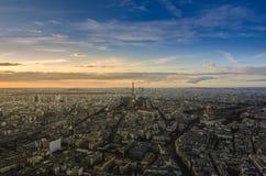 巴黎在从上面的黎明 库存照片