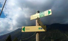 在登上Blanc的路 免版税库存图片