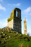 在登上Edgcumbe公园的被破坏的愚蠢在普利茅斯附近 免版税图库摄影