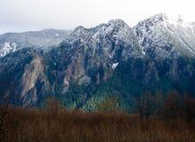 在登上Si的第一雪在北部弯 库存图片