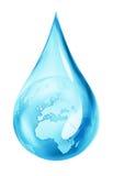 在水下落的地球 向量例证