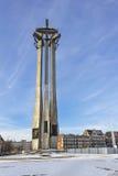 在1970年下落的造船厂工作者的纪念碑在格但斯克,波兰 库存图片