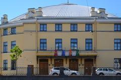 在19世纪修造的大状态马戏,圣彼德堡,俄罗斯 免版税库存照片