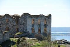 在17世纪修造的Brahehus废墟 免版税库存照片