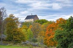 在14世纪修造的Kastelholm城堡, Aland海岛 免版税库存图片