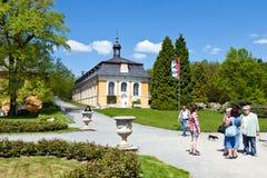 在18世纪在古典样式Kozel的狩猎城堡修造的, Pilsen地区,西部波希米亚,捷克共和国 免版税图库摄影