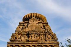 在6世纪广告修建的美丽的被雕刻的古老耆那教的寺庙在Osian,印度 免版税库存图片