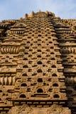 在6世纪广告修建的美丽的被雕刻的古老耆那教的寺庙在Osian,印度 免版税库存照片