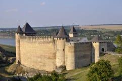 在14世纪建造的霍京堡垒 fo的上面看法  免版税库存照片