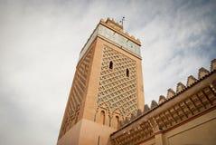 Kasbah清真寺在马拉喀什(Motocco) 免版税图库摄影