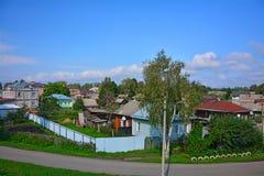 在11世纪里面垒的议院在Pereslavl-Zalessky,俄罗斯 库存照片