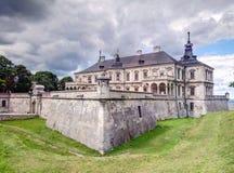 在17个世纪Pidgoretsky城堡被修建在Pidgirtsy,利沃夫州地区的历史建筑学纪念碑,乌克兰 免版税库存图片