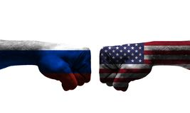 在2个国家之间的战争 库存图片
